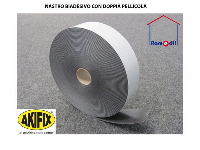 Nastro biadesivo cartongesso struttura guide pavimento h 50 70 mm 20