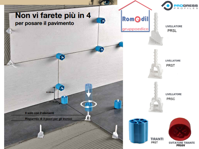 Livellatori pavimento piastrelle proleveling sistem pz croce c