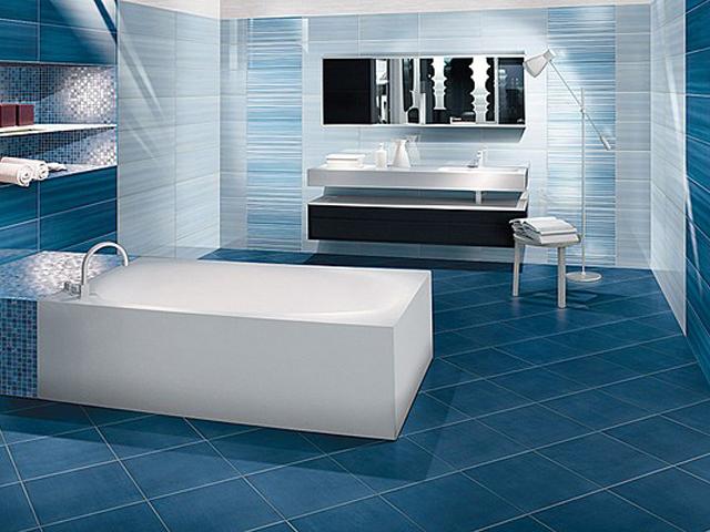 Piastrelle bagno bianco azzurro turchese blu cucina