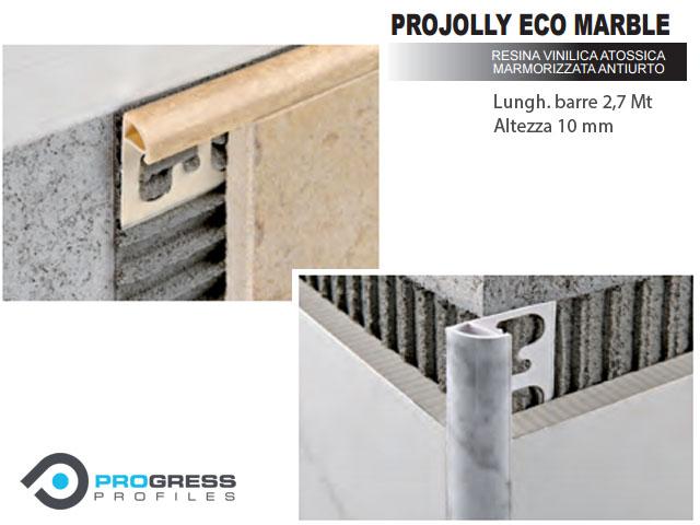 Profilo tondo jolly resina marmorizzato piastrelle projolly 2 7 m