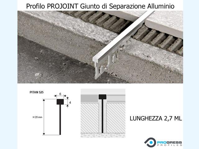 Profilo di separazione giunto alluminio pavimento - Piastrelle tipo veneziana ...
